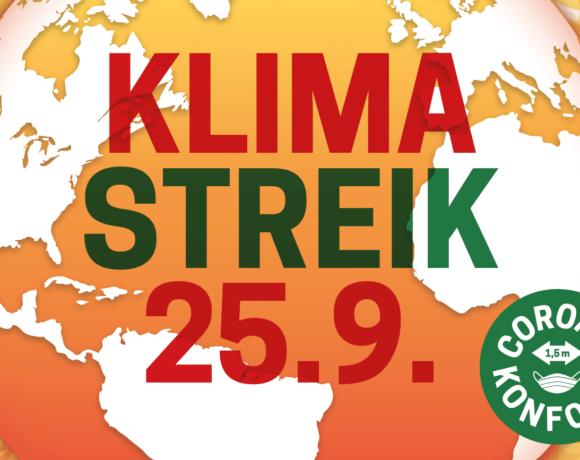 KEIN GRAD WEITER! Gemeinsamer Aufruf zum globalen Klimastreik am 25.9.2020